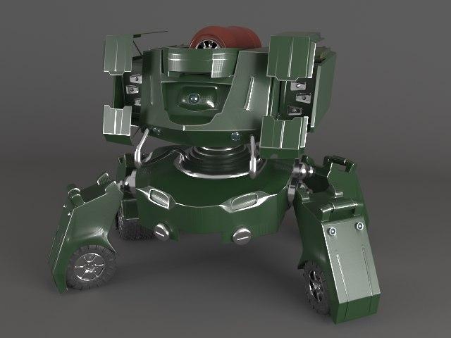 3d model robot wheels