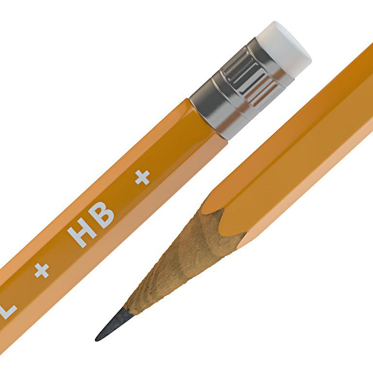 3d wooden pencil model