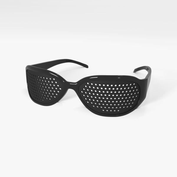 pinhole glasses 3d obj