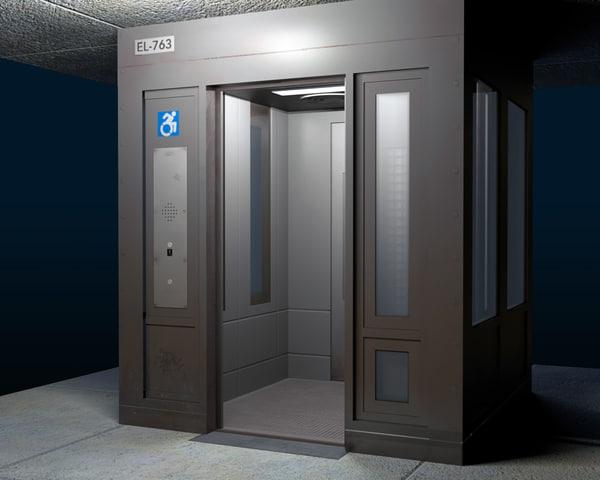 3d model elevator public