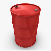 realistic oil barrel red max