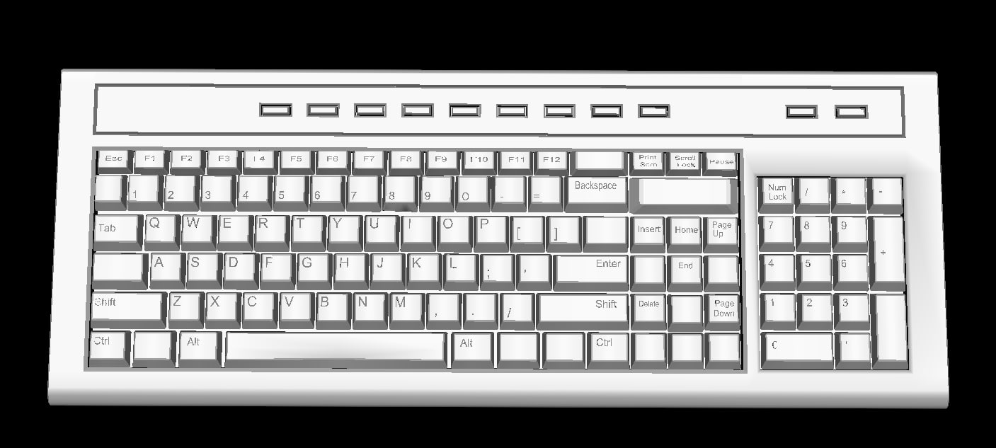 x keyboard key board