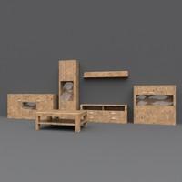 cabinet pbr details 3d model