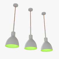 3d modern chandelier bulb light