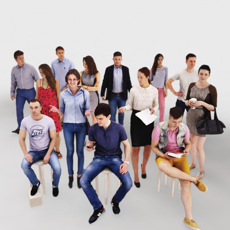 3d human people model