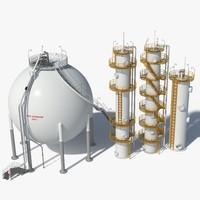 oil storage 3d max