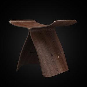 3d butterfly stool model