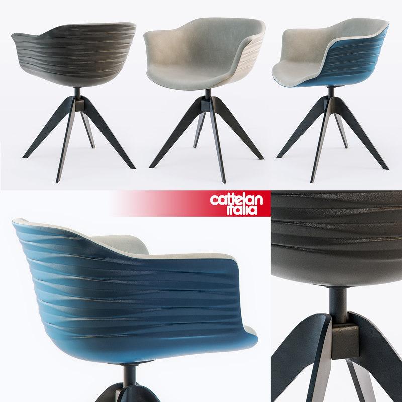 cattelan italia chair indy 3d max