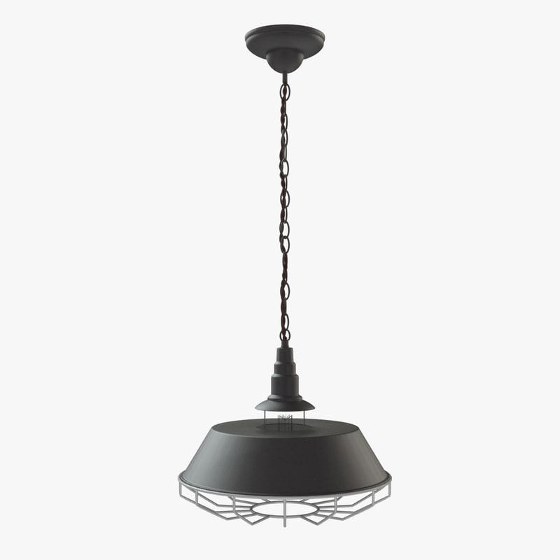 3d model loft creative iron chandelier