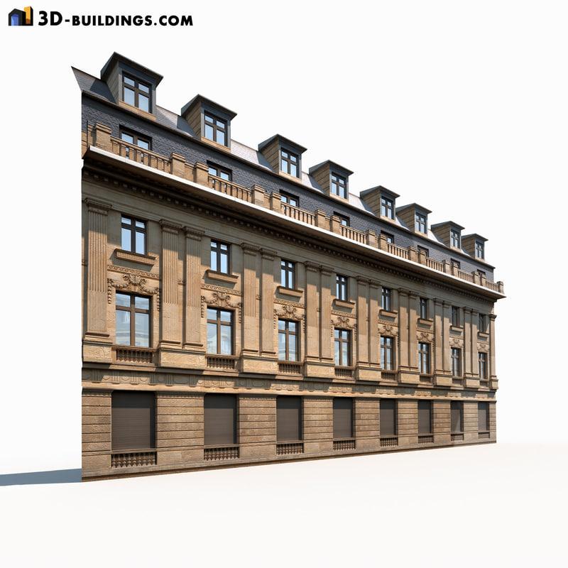 neoclassical modeled 3d model