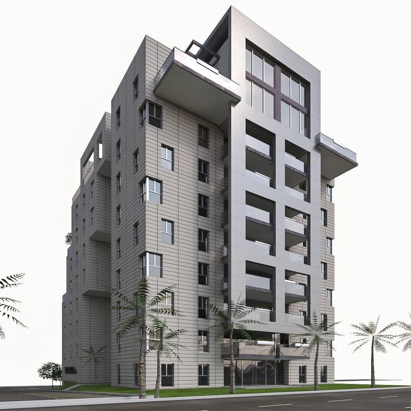 3d model condominium residential buildings