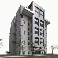 3d model condominium residential buildings