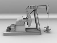 3d oil field pumping model