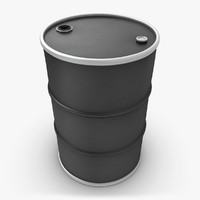 realistic oil barrel black 3d max