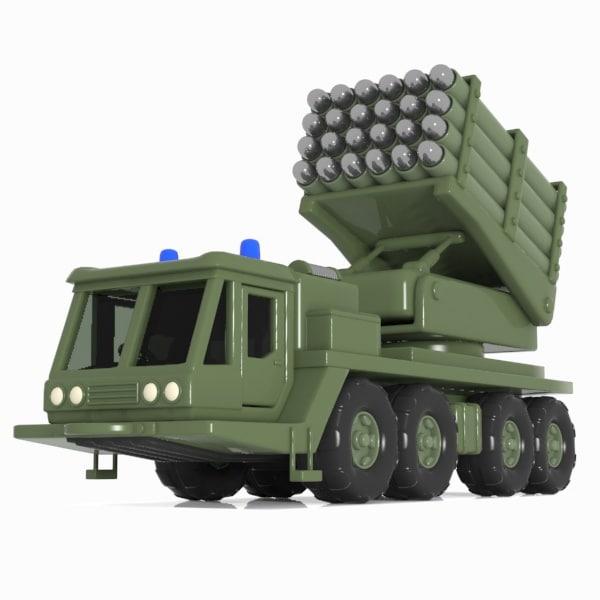 3d model cartoon missile vehicle