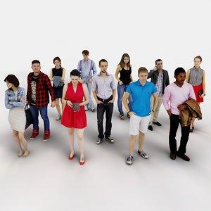 3d model of human people