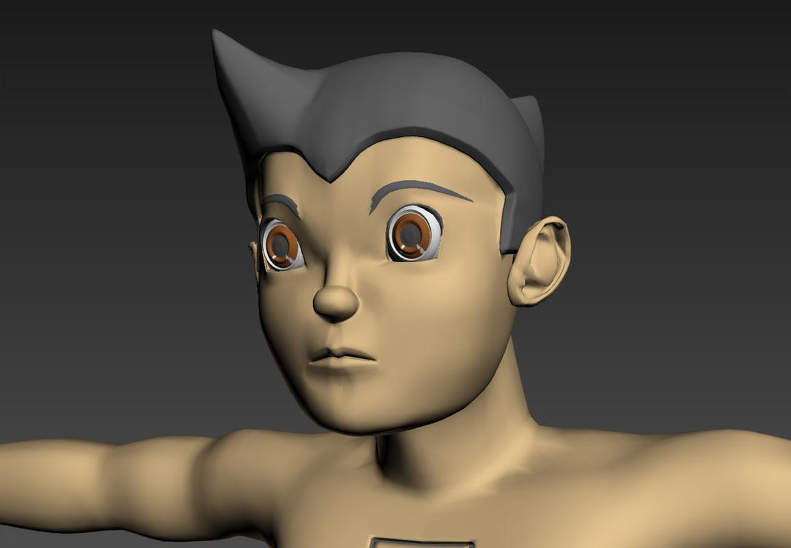 astro boy 3d obj