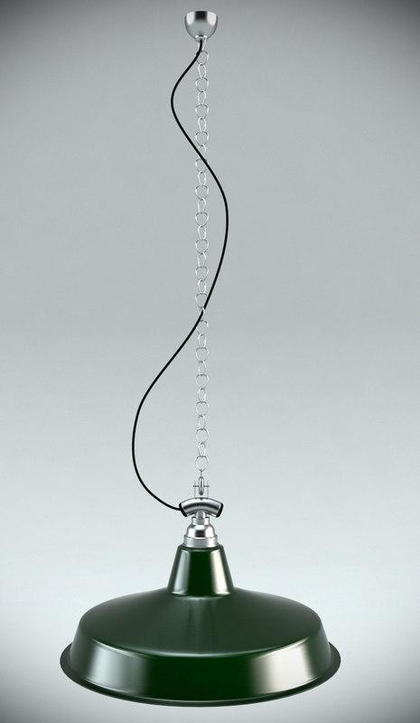 gantry large pendant light 3d max