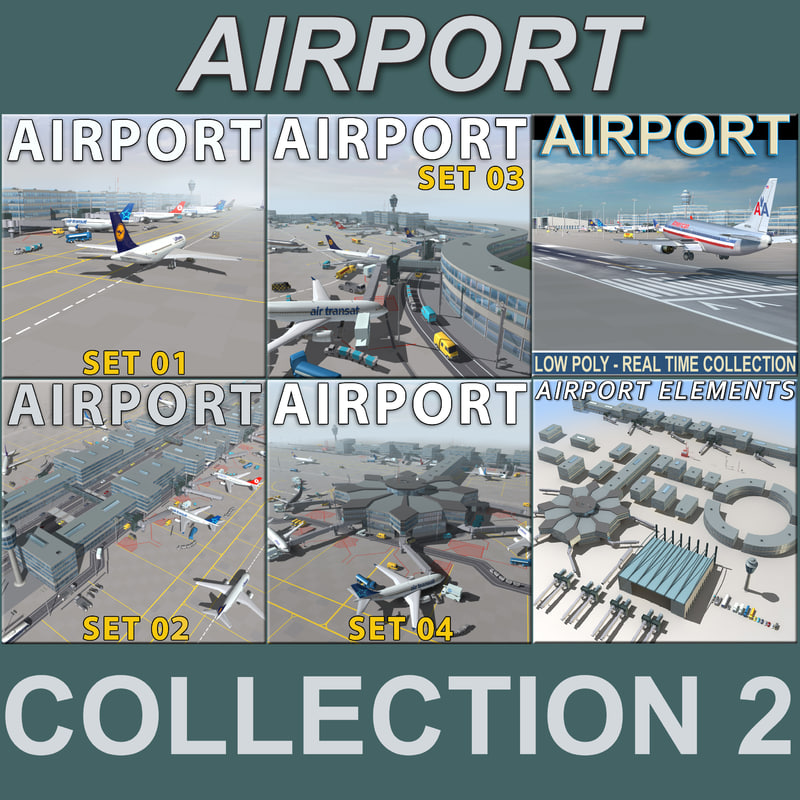 3d model airports air