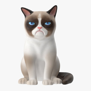 grumpy cat 3d model