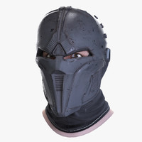 sci-fi mask 3d model