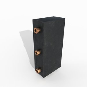 electrical pack medium wall 3d 3ds