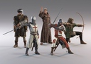 3d set medieval characters model
