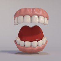 3d model cartoon teeth
