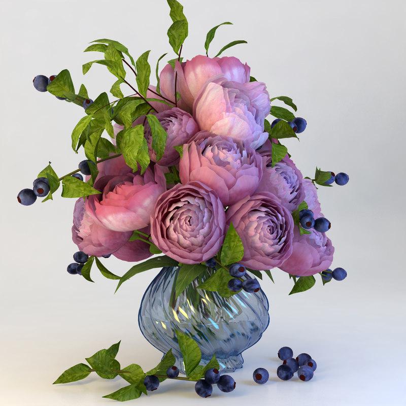 3d model of flower