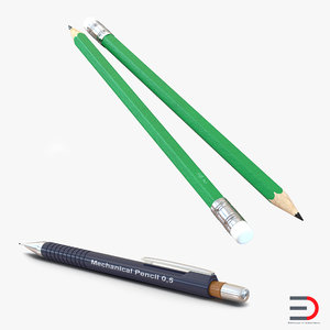 3d model pencils design mechanical