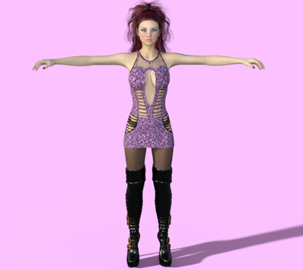 3d beautiful female model