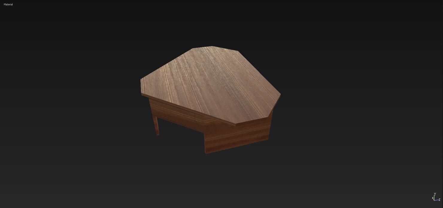 3d model corner desk