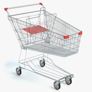 shopping cart 3d 3ds
