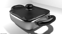casserole cookware pan 3ds