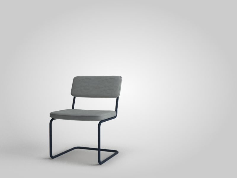 light metal frame chair 3d model