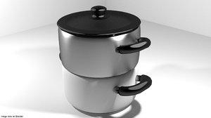 cook cookware pot 3d model