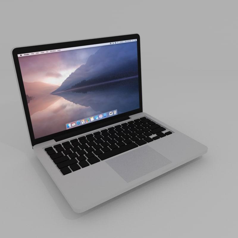 basic laptop 3d model