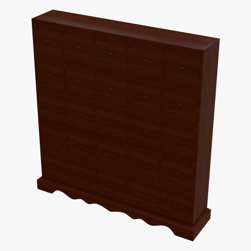 3d model of cabinet collada dae