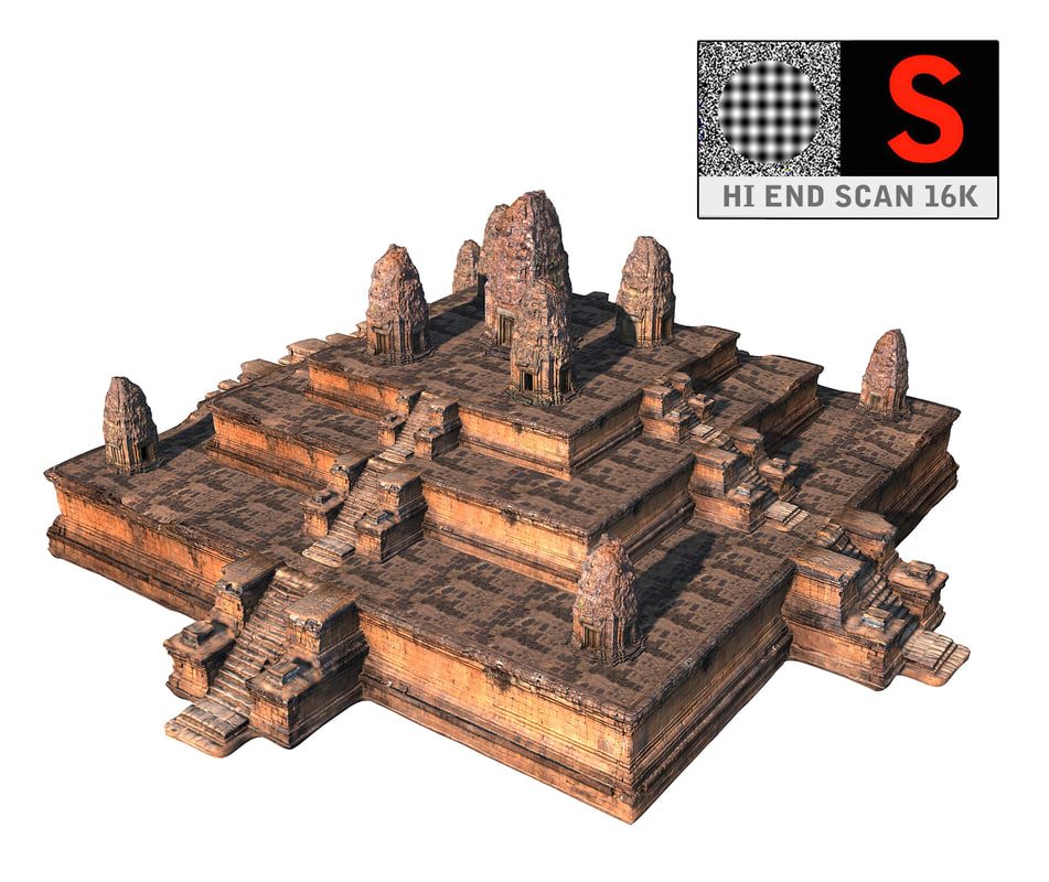 hindu pyramid temple 16k obj