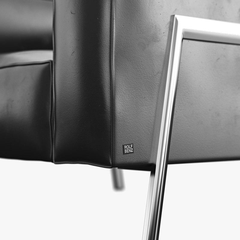 benz bacio armchair 3d model