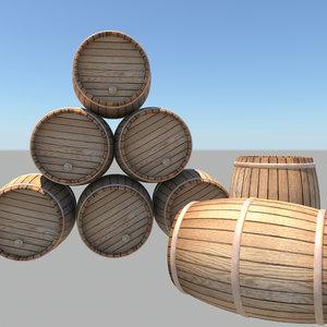 barrel bar 3d fbx