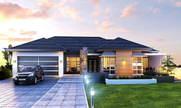 australian residential 2 3d model