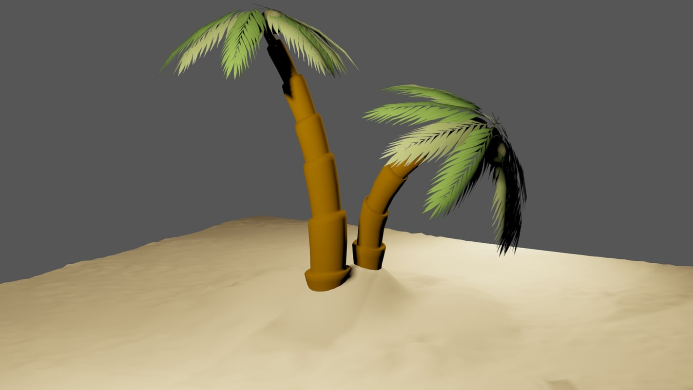 tree plam 3d model