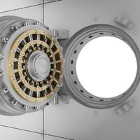 3d bank vault door model