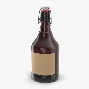 3d model cold brew bottle 2