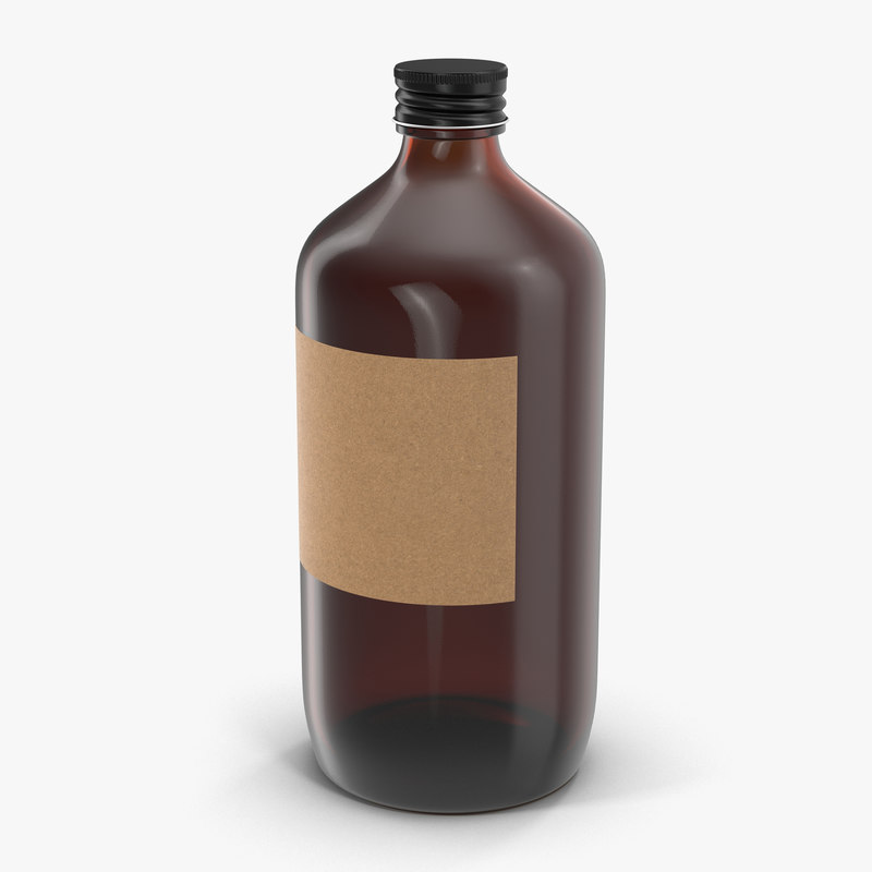 3d model cold brew bottle 4