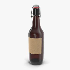 cold brew bottle 3d max