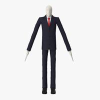 slender man 3d obj