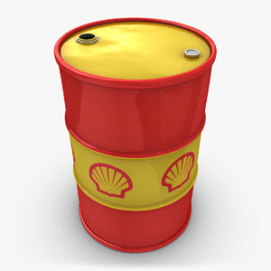 3d model realistic oil barrel shell