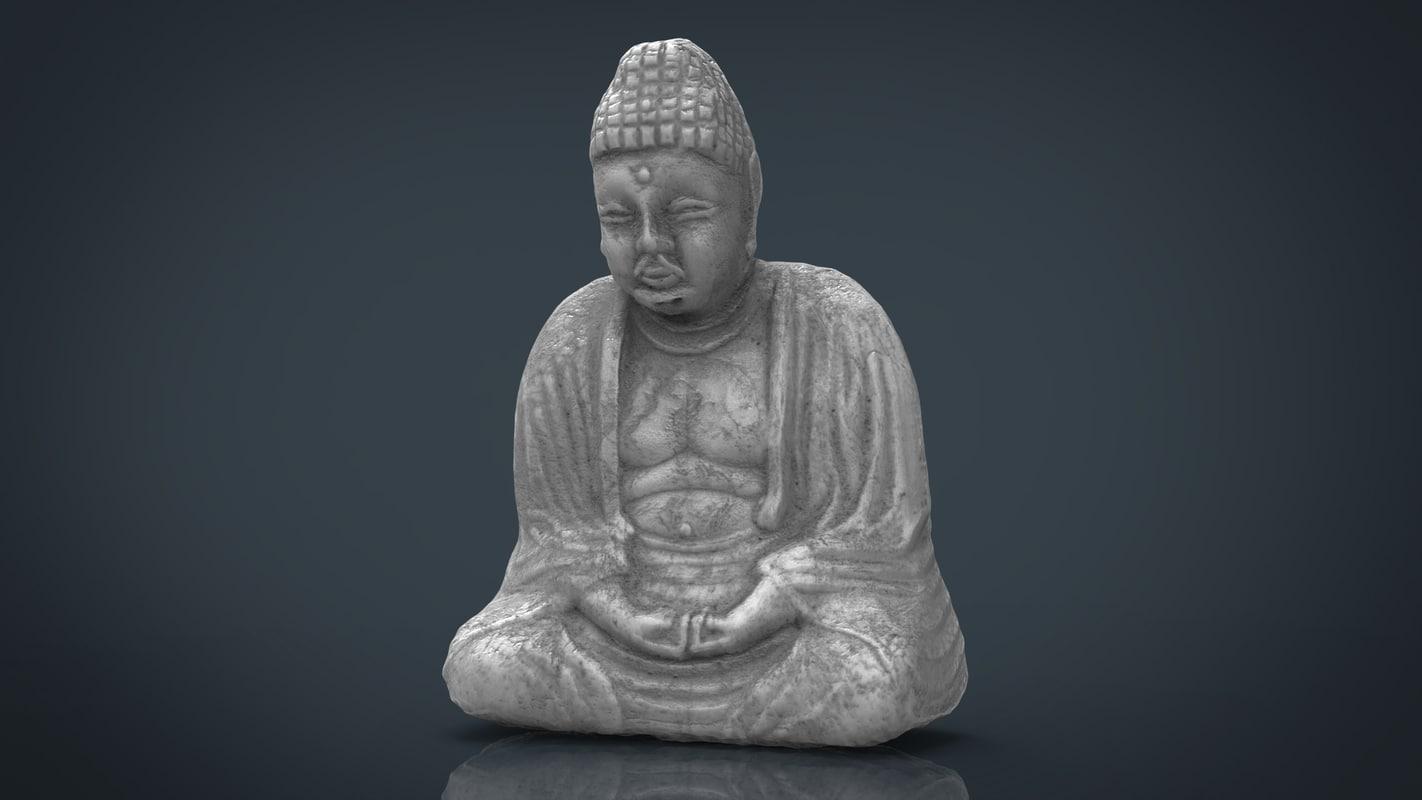 3d x statue buddah